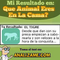 Descubre el animal que eres en la cama. T_cama_tigre